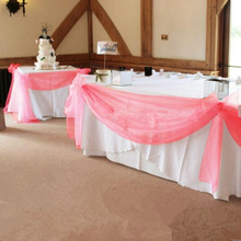 2017 New Fashion Christmas Party Decoration Coral 10M*1.35M  Banquet chair sashes  Organza Swag Wedding Table Swags