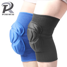 1 Piece sponge knee pads for sport tenis volleyball knee prtection Running Bodybuilding knee support kneepads for crossfit(China)