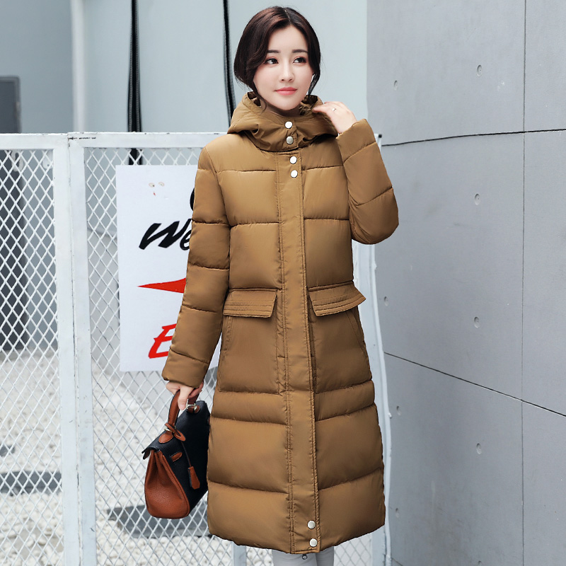 2017 Free Shipping Autumn Winter New Casual Down Clothing Fashion Show Thin Long Coat Female Fashion Women Work WearÎäåæäà è àêñåññóàðû<br><br>