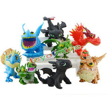 How to Train Your Dragon 2 PVC Action Figures Toy Doll Night Fury Toothless Dragon 8pcs/Lot For Children Kids gift