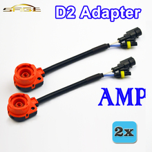 2 PCS D2 D2C D2S D2R Adapter AMP Socket Conerter Cable XENON Harness Wire HID Bulb Base Adaptor Car Accessories