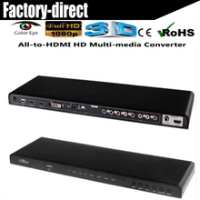 All to HDMI converter scaler HDMI/DVI/VGA/Ypbpr/AV RCA to HDMI converter scaler 3D&full HD1080p suported(China)