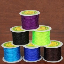New Arrival! 27yard/roll 3mm Nylon Cord Chinese Knot Macrame Rope Bracelet Beading String Thread for Jewelry Making(China)