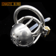 Buy Chaste Bird Stainless Steel Male Chastity Device Catheter,Cock Cage,Chastity Belt,Penis Ring,Virginity Lock,Cock Ring A222