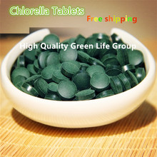 Export level Organic Broken Cell Wall Chlorella Tablets rich of chlorophyll (250mg Per Tablet, Pack of 1000) free shipping