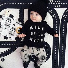 2017 new character clothing sets Baby boy fashion style 2pcs( shirt+pants)baby boy sets clothes baby boy girl suit(China)