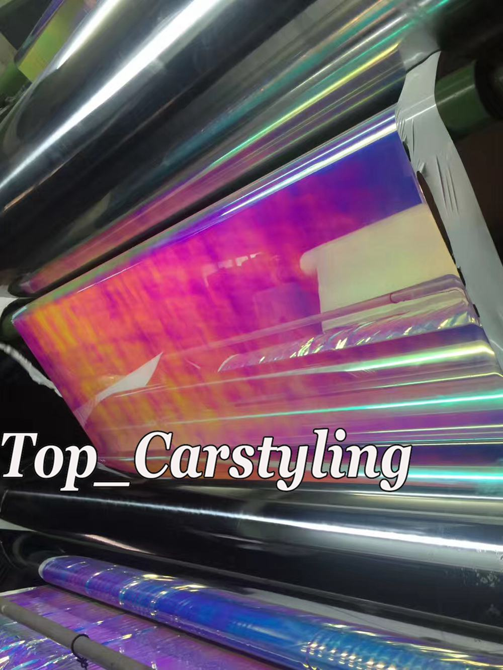 rainbow chameleon chrome high stretch car wrapping film with air bubble free 3m hexis) (4)