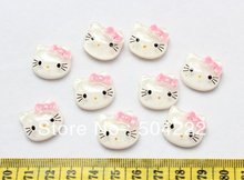 Set of 100 pcs Kawaii Sanrio Hello Kitty Cabochons 20mm Shiny wholesale free shipping(China)