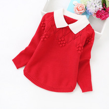 2016 new 4-10 years girls' sweaters fashion cashmere sweater children clothing   1671