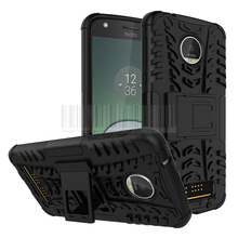 2in1 Anti-knock Silicone TPU+PC Rugged Armor Case Kick Stand Hard Duty Hybrid Shockproof Cover For Motorola Moto Z Play Droid #