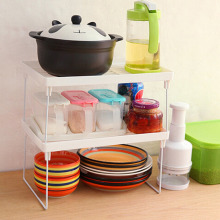 Multilayer Shelf Multilayer Snap Type Plastic Foldable Storage Racks Kitchen Shelving Holders Multiuse Organizer
