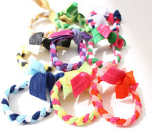 CHOMI wholesale 2000 pcs/lot candy colors Braids plaits Hairband Rope Ponytail Holder Emi Jay Like Hair Ties Elastic Hair bands