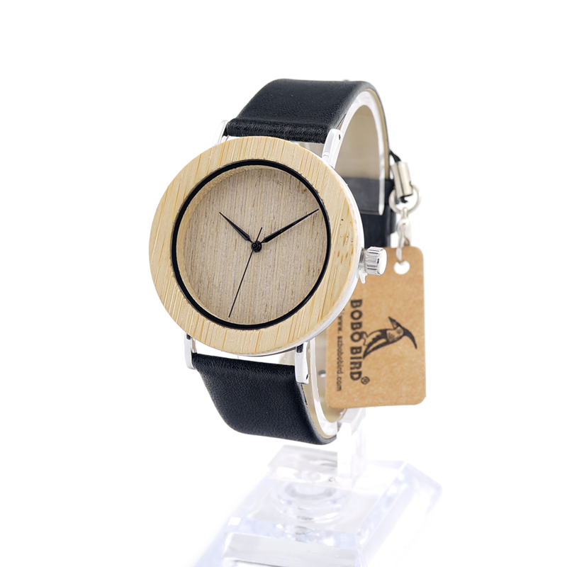 BOBO BIRD A07 Mens Wooden Watch Bamboo Bezel Stainless Steel Back Case Quartz Wristwatch in Gift Box heren horloge<br><br>Aliexpress