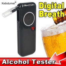 kebidumei Newest 1pcs Police Professional alcohol tester Digital Breath Tester Breathalyzer Analyzer Red LED Backlight Portable(China)