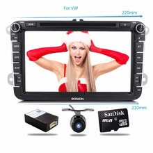 Two Din 8 Inch Car DVD Player Radio GPS Navigation audio camera Bluetooth for VW GOLF 6 polo New Bora JETTA B6 PASSAT SKODA Map