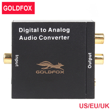 Goldfox VK-DACM Digital Optical Coax to Analog RCA Audio Converter Adapter with 3.5mm Jack Black