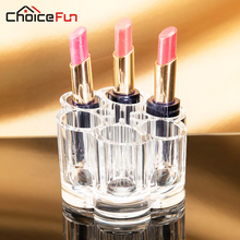 CHOICE FUN Plum Clear Acrylic Cosmetic Organizer Insert Holder Pill Lipstick Brush Makeup Drawers Cases Mini SF-1028(China)