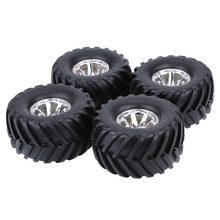 4Pcs/Set 1/10 Truck Tire Tyres for Traxxas Tamiya HPI Kyosho RC Monster Car