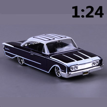 1:24 alloy car,high simulation model cars 1960 Ford Starliner, metal diecasts, coasting,children's toy vehicles, free shipping(China)