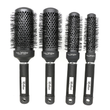 Professional Fast Styling Salon Ceramic Hair Round Brush 4 Sizes Black Ionic Hair Aluminum Brush For Hair Blowing Curly Combs