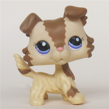Beige Littlest Pet Brown Hair Mini Dog Lps Shop Action Figure Gifts for Kids Birthday(China)