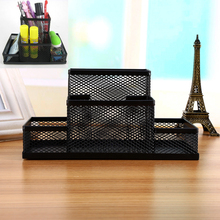 Metal Home Office Organizer Box Pen Pencils Holder Desk Stationery Storage Simple design School Pencils Holders For Kids