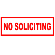 No Soliciting Abstract Artistic Lettering Casual Sticker for Window Motorcycle Laptop Kayak Home Car Decor Vinyl Decal 9 Colors