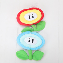 "6"" 15cm Super Mario Bros Blue Ice Flower & Red Sun Flower Plush Doll Toy(China)"