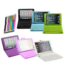 For soft 3d iPad mini case Wireless Bluetooth Keyboard PU Leather Stand Case Cover For iPad Mini 1 2 3 4 + Free Stylus Pen(China)