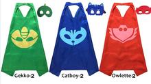 3 sets of PJ Masks cloak Cape and Mask Owlette Catboy Gecko greg conner amaya capes Cosplay Action Toys For kids Children(China)