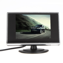 "Sale 5PCS Mini 3.5"" TFT LCD Car Rearview Monitor With 2-Channel Video Input For Rear View Reverse Camera"