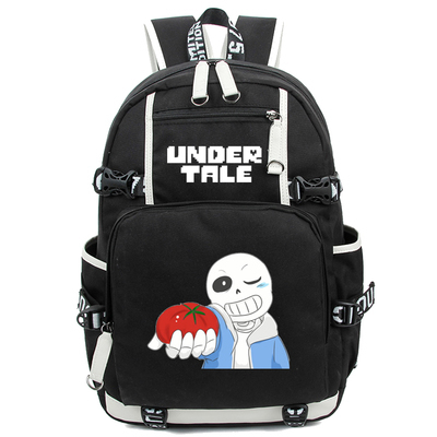 2017 New Game Undertale Luminous Backpack Cosplay Sans School Bags Satchel Mochila 17  College Students Bag Bookbag laptop Bags<br>