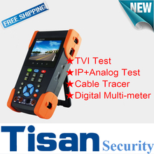 New 3.5 inch TVI cctv tester IP 3.0TVI Analog Camera cctv test monitor with Digital Multi-meter and Cable Tracer test