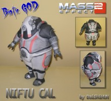 Mass Effect 2 Niftu Cal The God of Life 3D Paper Model DIY(China)