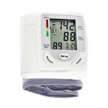 1 PCS Health Care Digital LCD 1 PCS Wrist Blood Pressure Monitor Heart Beat Rate Pulse Meter Measure Arm Sphygmomanometer