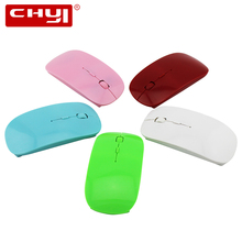 CHYI Wireless Mouse Slim Black White Pink Cheap Mouse Wireless Ultra Thin Computer Mice For PC Laptop Notebook(China)