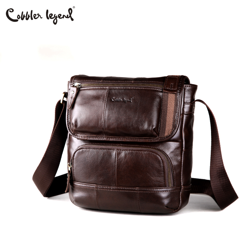 Cobbler Legend Cow Genuine Leather Messenger Bags Men Travel Business Crossbody Shoulder Bag for Man Casual Shoulder Handbags<br>