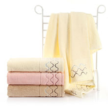 100% Cotton Luxury Bath Towel With Flowers 70*140cm Cheap Quality Beach Towel Large for Adult