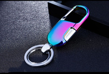 New Brand Metal Keychain Design Cool Luxury Car Key Chain Key Ring Men chain 3 color pendant For business Gifts wholesale K1164(China)