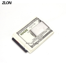 ZLON Men Stylish & Durable Metal Wallet Business Casual Credit Card ID Holder Money Clip Silver USD Clip Wallet M172