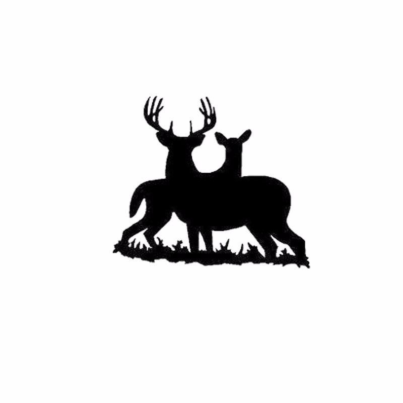 Two Elk In The Grass Bumper Stickers Vinyl Car Decals Art Decor