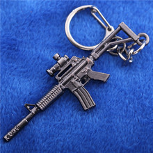 Unique Design Sniper Rifle Gun Men Bag Chain for Keys Metal Craft Free Shipping