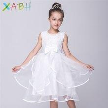 ad9dc88e53465 EAZII infantile fille robe enfants fleur arc fête robes de mariée perles  Tulle sans manches robe d été enfants robe cérémonie Co.