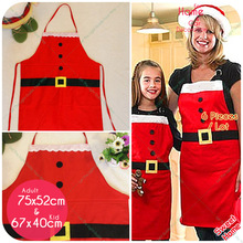 Red Apron Kids/Adult Family Kitchen Cooking Xmas Ornaments Party Supplies Christmas Decorations For Home Natal Navidad Decor(China)
