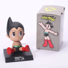 "Anime Cartoon Astro Boy Toys PVC Figures Dolls Wacky Wobbler Car Decorations 5"" 12CM"