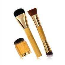 Super Makeup Brushes 3Pcs Pro Make Up Bamboo Brushes Set Foundation Blusher Kabuki Powder Cosmetic Brush Kit Tart Synthetic Hair