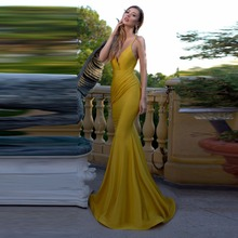 Vogue Mermaid Formal Dresses Sexy Prom Gowns Spaghetti New Design Long Evening Gowns Backless Custom Made Vestido De Festa Longo(China)