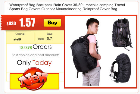 UK/_ 35-80L PORTABLE WATERPROOF BACKPACK BAG RAIN COVER FOR SPORTS TRAVEL BAG ORN