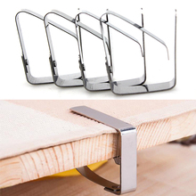 New Creative Plastic 4Pcs Table Cover Cloth Stainless Steel Tablecloth Clip Clamp Holder Party Wedding