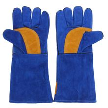 NEW 16'' Pair Long Heavy Duty Double Reinforced Welding Gauntlets Welder Gloves Safety Gloves(China)